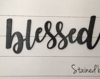 Blessed Sign, Blessed Word Cutout, Large Blessed Cut out, Blessed Wall Decor