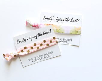 Bridal Shower Personalized Hair Tie Favor | Bridal Shower Favor | Bridal Shower | Bridal Shower Gift | Thank you Favor | Bridesmaid Gift