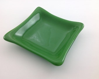 Green Glass Fused Dish