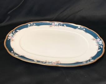 "Noritake Bone China 'Sandhurst #9742' 14"" Oval Serving platter"