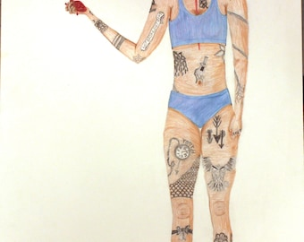 """Colored Pencil Drawing: """"I am Not my Body"""""""