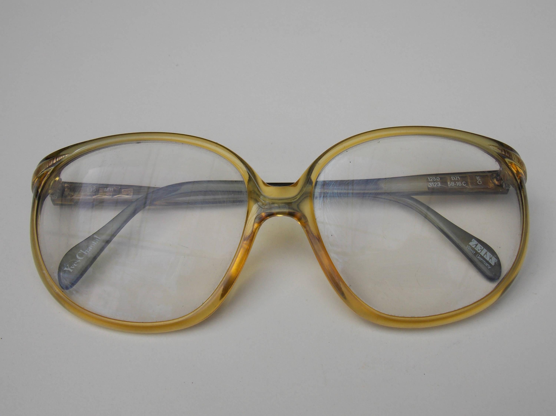 Yves Chantal Zeiss Retro große Gläser Brillen braunen
