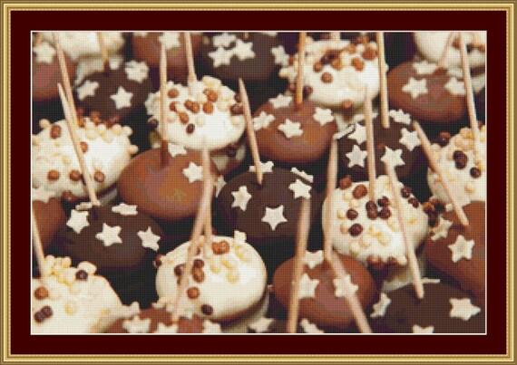 Chocolate Desserts Cross Stitch Pattern /Digital PDF Files /Instant downloadable