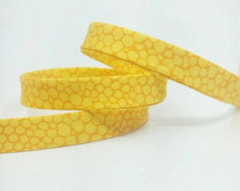 Art Gallery Bias Tape -  1/2 in Double Fold Bias Tape - 12mm - Honeycomb Miele - Yellow Honey Bee Bias Tape - Mediterrano Fabric