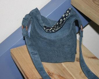 Small Blue Handbag, Small Shoulder  Bag ,Cute Small  Bag, Shoulder Bag,  Handmade Bag, Handmade Gift,