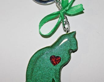 Resin Keychain ' cat ' (5 different colors)