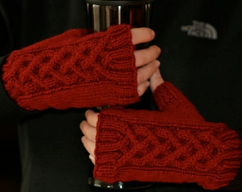 Celtic Fingerless Mittens & Gauntlets - Made to Order