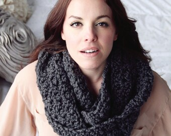 SCARF CROCHET PATTERN Cowl Chunky Infinity Scarf Wrap The Chicago Cowl Crochet Pattern