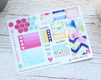 Flower Burst Mini Happy Planner Weekly Kit; Mini Kit; Functional Stickers; Vinyl Matt; Planner Stickers; Summer Kit; Flower Kit; Filofax
