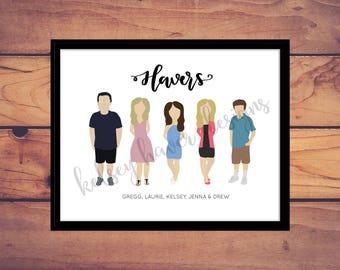 Custom Family Portrait Digital Download