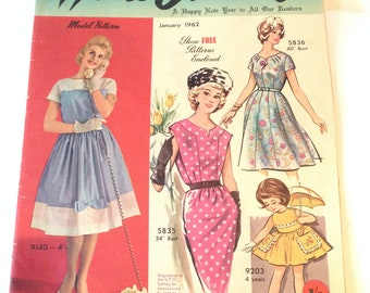 Vintage 1962 Australian Home Journal with 3 Patterns
