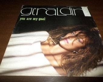 Vintage 1985 Vinyl LP Record Geraldine You Are My Goal Electronic Disco Rare White Vinyl 3461