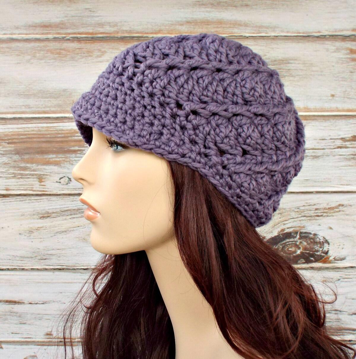 Instant Download Womens Crochet Hat Pattern - Beanie Crochet Pattern ...
