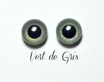 Eyechips 13 mm - Coloris Vert de Gris ( Edition Limitée )  Taille Pullip Modèles Récents