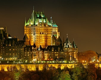 Night view of Le Chateau Frontenac, Quebec City