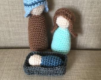 Nativity set / crochet nativity set / Christmas decorations / amigurumi nativity / nativity scene