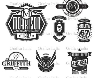 Retro Blank Badge Logo Templates