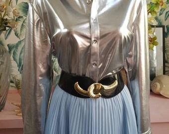 Stunning metallic silver blouse