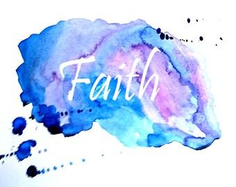 A print from my mixed media piece 'Faith'