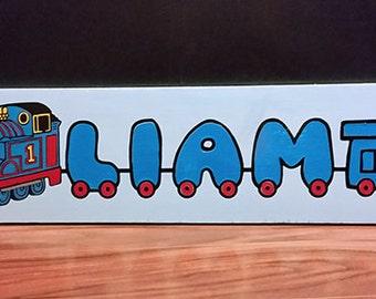 Custom Thomas the train Name Plaque