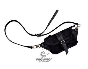 Small casual waist bag, waist bag, men's bag, canvas leather men's bag, small bag, canvas leather purse, hip bag, belt bag, men's waist bag