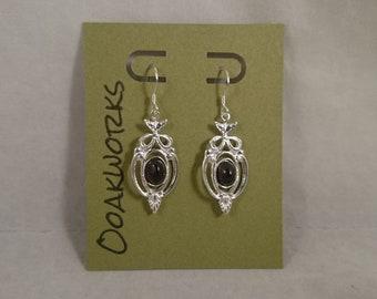 4 carat Montana Almandine Garnet Sterling Fancy Dangle Earrings January Birthstone