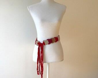 Vintage Boho Belt      Vintage Suede Bohemian Belt     Vintage 70s Suede Belt     Vintage 70s Hippy Belt