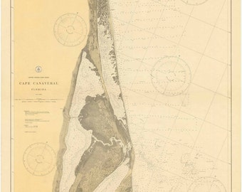 Cape Canaveral - 1927 Nautical Map Reprint - Florida - 80000 AC Chart 161