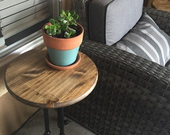Industrial (Black Iron) Tripod End Table