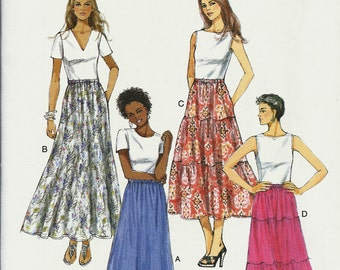 """Butterick 5757    Misses """"Very Easy"""" Skirts        Size Xsm, Sm, Med      Uncut"""