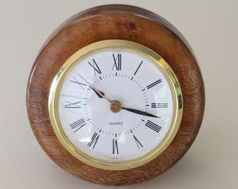 Koa desk clock
