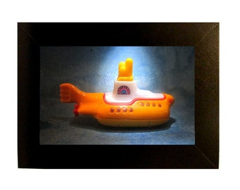 Framed Beatles Yellow Submarine Toy Photograph 4x6""
