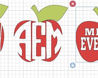 Teacher Apple vinyl decals