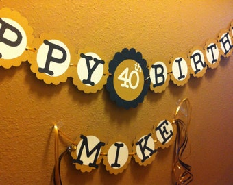 40th Birthday Decorations Personalization Available