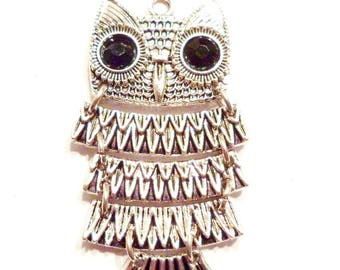 x 1 large 50 mm x 26 mm OWL charm pendant