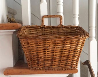 Wicker / Rattan Letter Basket / Plant Holder / Hanging Basket / Diaper Holder / Boho