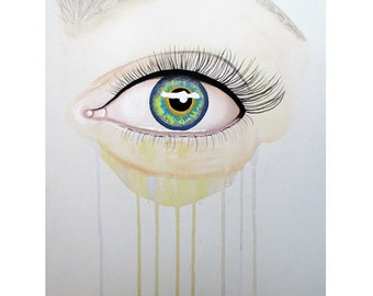 Seeing A Challenge And Facing It - Speed Painting - Eye Painting - By Mixed Media Aritst Malinda Prud'homme