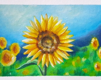 Sunflower Painting - Print