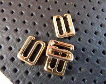 Fasteners open gold vintageX6 bra straps