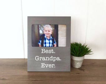 Fathers Day Photo Frame, Fathers Day Gift for Grandpa, Fathers Day Gift for Grandpa, Best Grandpa Ever, Fathers Day Gift from Daughter