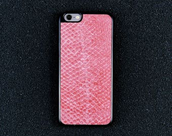 Salmon Leather iPhone Case - iPhone 8/7/6S/6 - Made in Germany by Icecase