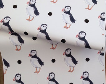 Puffin, wrapping paper, gift wrap, for bird lovers , for puffin lovers, read description