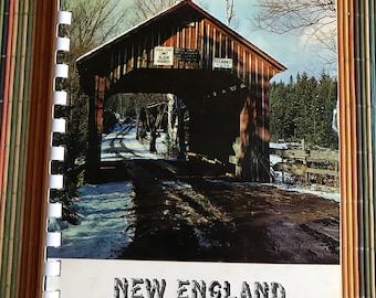 New England Covered Bridges spiral bound Colonial date book and keep a record of Christmas cards received