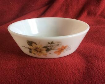 """Pyrex JAJ Autumn Glory Dahlia Cereal bowl 5.5"""""""