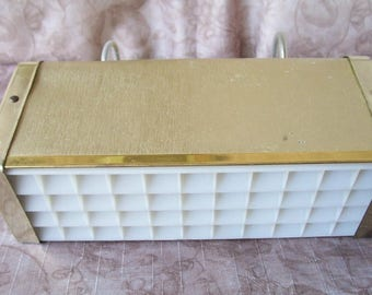 Vintage gold cardboard bed lamp.   C2-523-.25