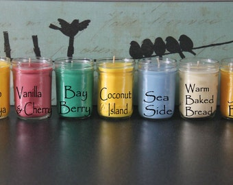 Soy Wax Candles 8oz Ball Mason Jar Vegan Friendly/Gift