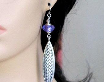 TRIBAL LEAF EARRINGS - Long-Leafed Dangle Earrings