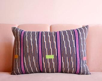 African Pillow, Mudcloth, African Mudcloth, Ikat Pillow, Vintage Baule, Vintage Mud Cloth, Boho Pillow, Throw Pillow, Lumbar Throw Pillow
