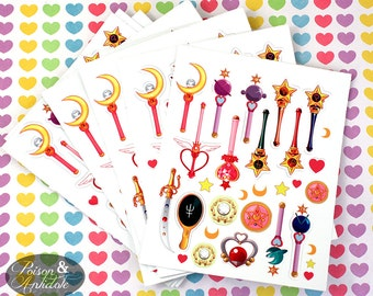 Sailor Moon Mini Sticker Sheet! 27 Die cut stickers
