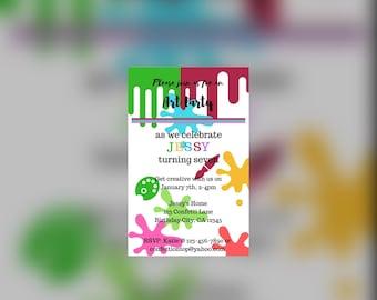 Art Party! Invitation (DIGITAL)